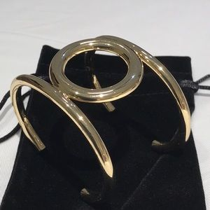 Banana republic gold cuff bracelet